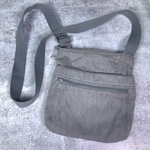 Thirty One Crossbody Bag Gray Travel Purse